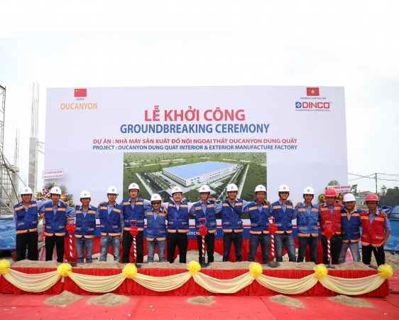 VIDEO GROUNDBREAKING OF OUCANYON INTERIOR & EXTERIOR MANUFACTURE FACTORY